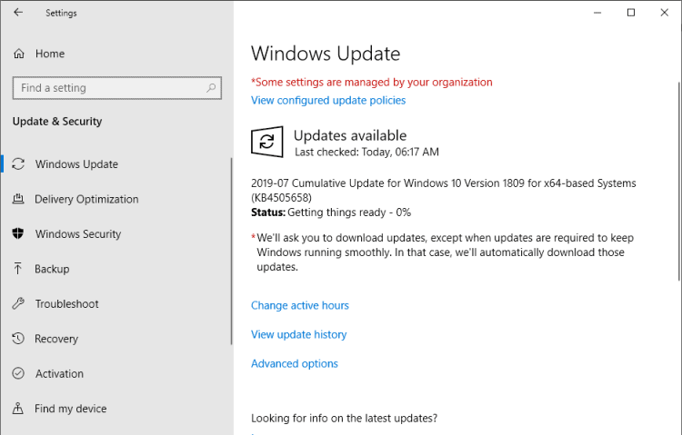 KB4505658 update windows 10
