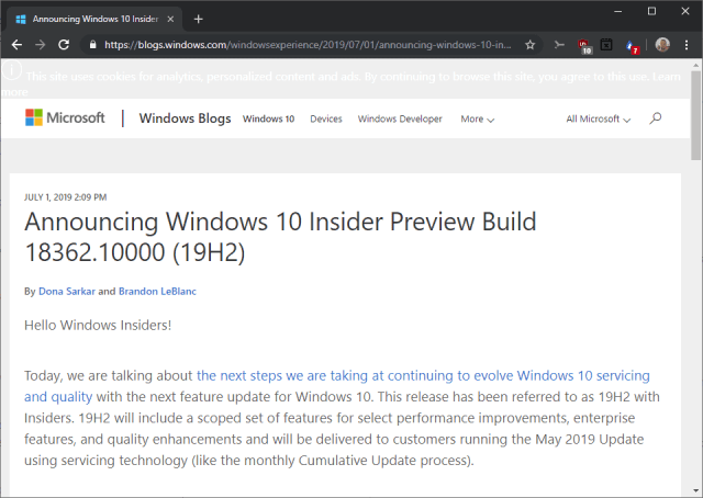 windows 10 19h2