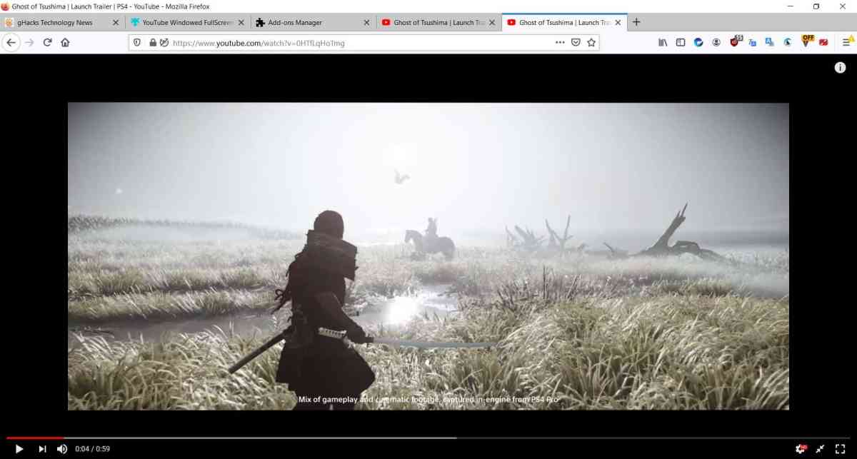 Youtube Windowed FullScreen