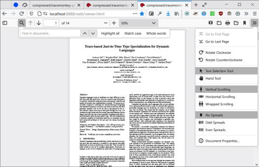 firefox pdf reader light