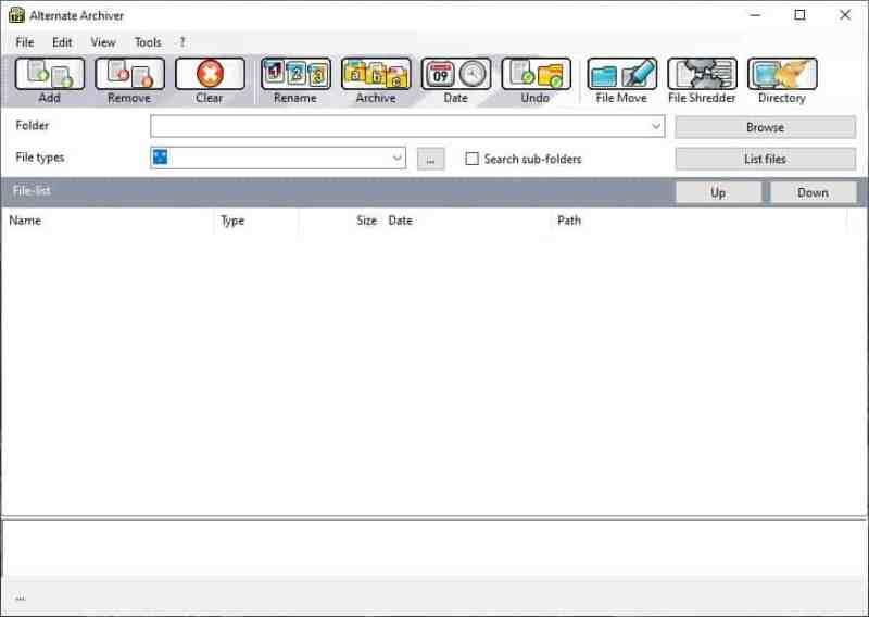 Rinomina file in batch, modifica il timestamp o archivia i file in una directory a tua scelta con Alternate Archiver