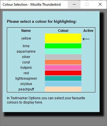 Cambia il colore in textmarker