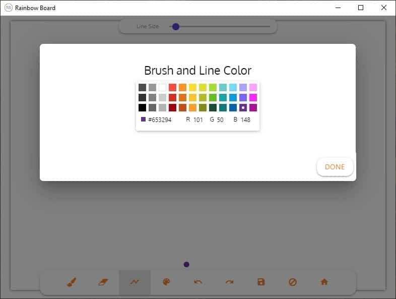Tavolozza dei colori di Rainbow Board