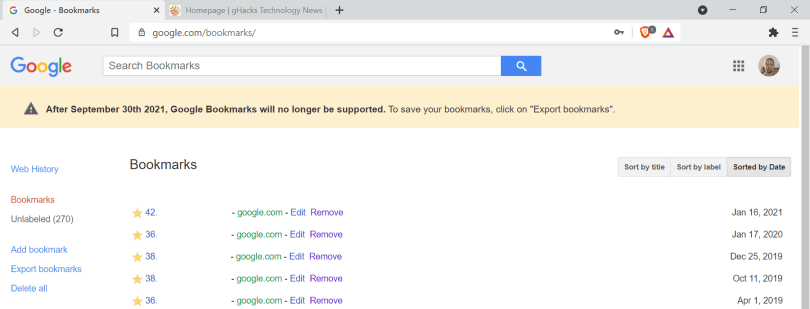 — Google is shutting down Google Bookmarks Here are alternatives