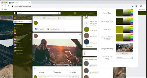 Cambia colore per l'estensione Facebook per Chrome