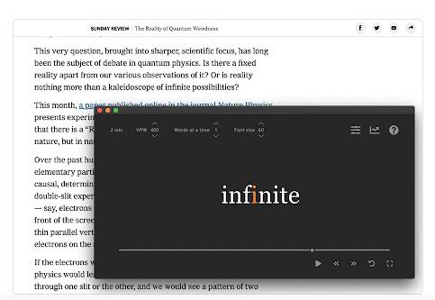 L'estensione SwiftRead Chrome ti aiuta ad aumentare la velocità di lettura