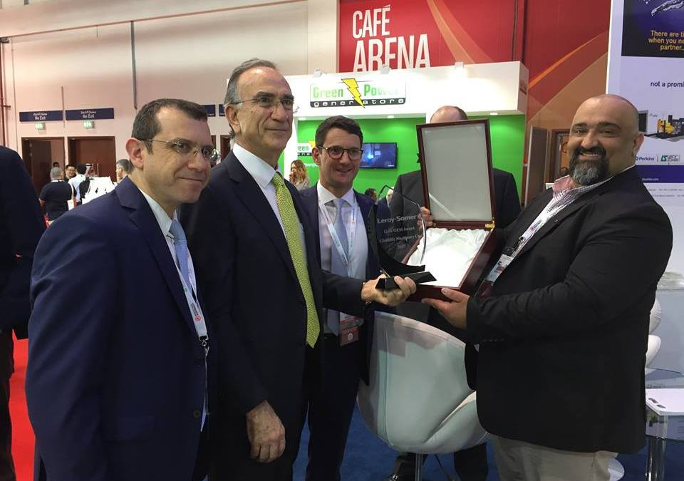 "Ghaddar Machinery Co. Receives Leroy Somer ""Gold OEM Award 2017"""