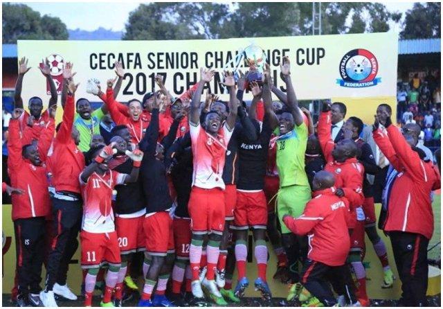 Image result for HARAMBEE STARS WIN CECAFA
