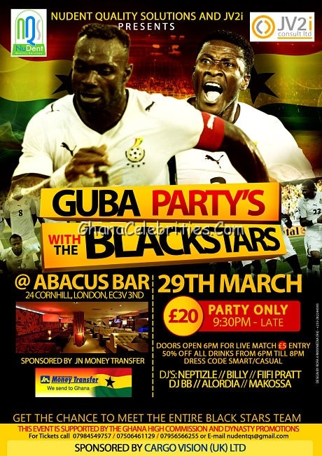 GUBA Party With The BlackStars At Abacus In London