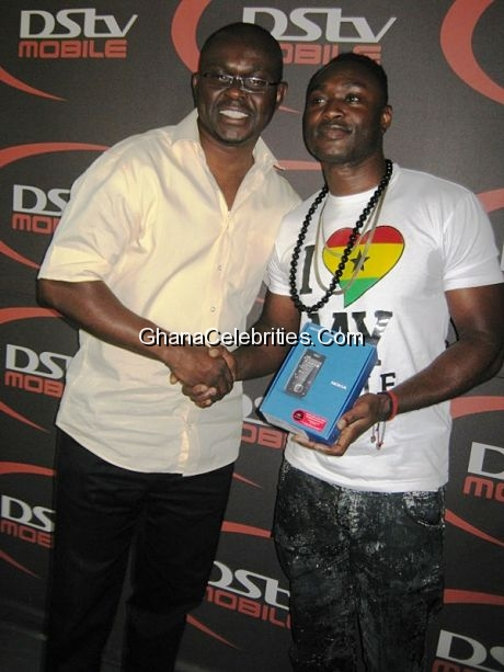 Operations Manager of DSTV Mobile Ghana, Tsatsu Kubiabor and Alex