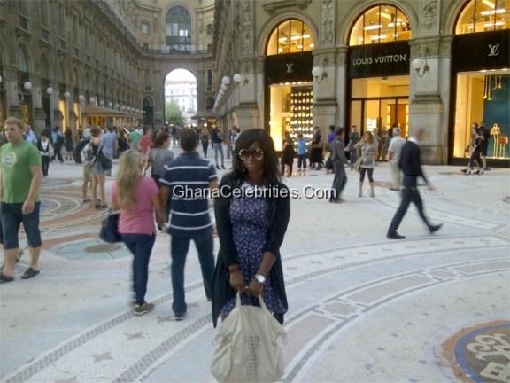 Ama K Abebrese In Milan