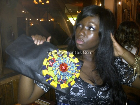 Ama K Abebrese Showing Of Her Clutch By  Sa4a