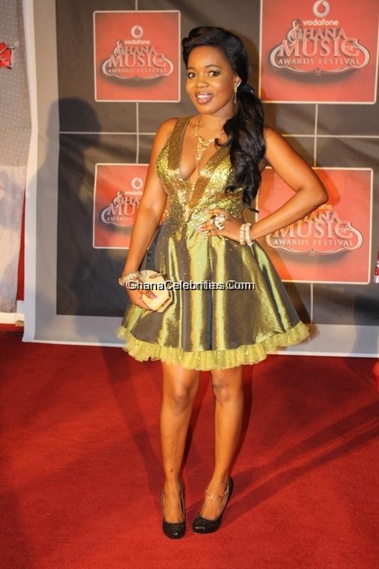 Mzbel on Vodafone Ghana Music Awards red carpet