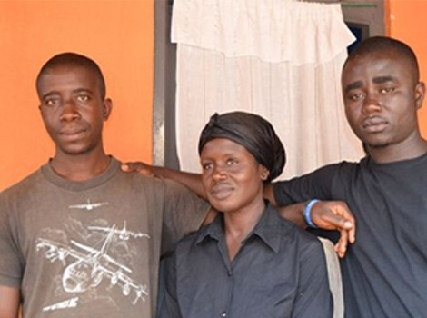 Uncle Alex, Aunt Akosua and cousin Kwame