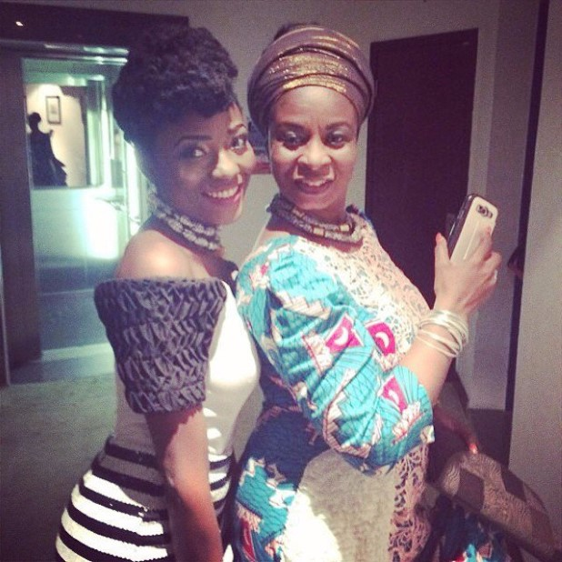 Efya and her mother