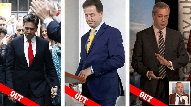 Labour, Lib Dem and UKIP leaders resign