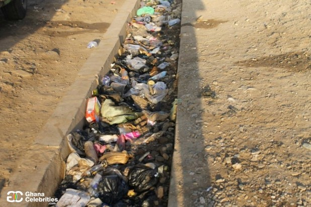 Gutter in Accra, Capital of Ghana