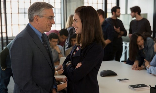 De Niro and Hathaway in The Intern