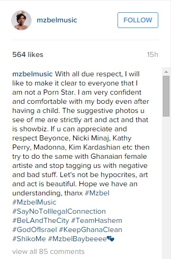 Mzbel's Instagram Post