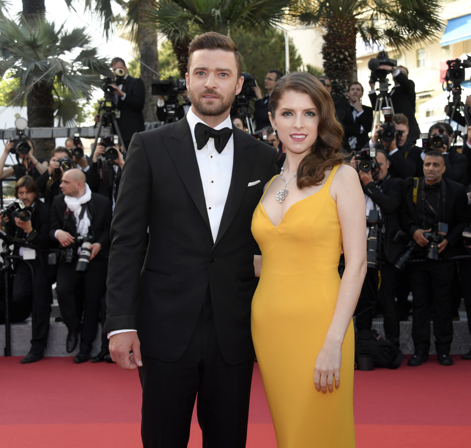 Mandatory Credit: Photo by Maria Laura Antonelli/REX/Shutterstock (5682774t) Justin Timberlake, Anna Kendrick'Cafe Society' premiere and opening ceremony, 69th Cannes Film Festival, France - 11 May 2016