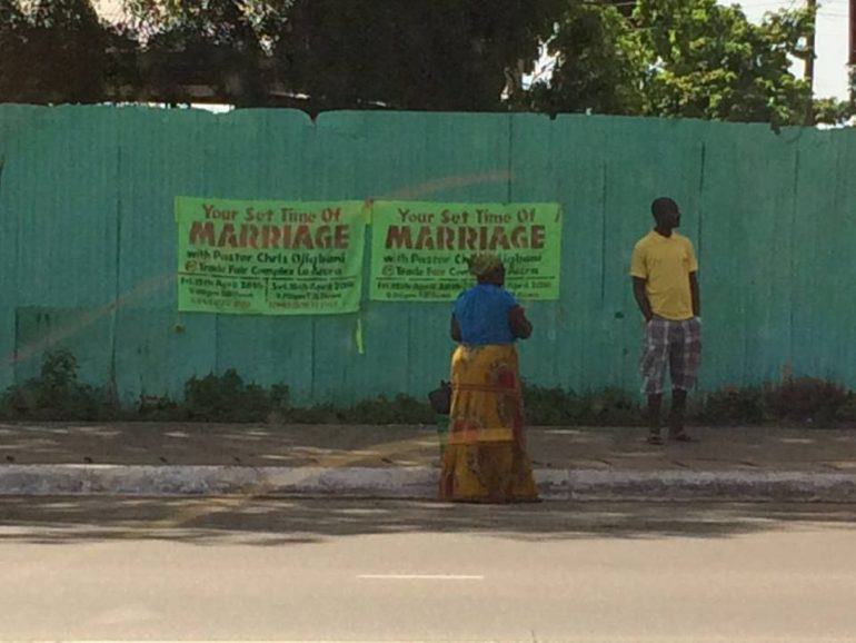 Poster in Accra, Ghana