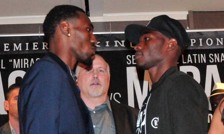Richard Commey (r) and Easter before the fight