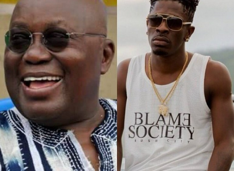 Image result for shatta wale and akufo addo