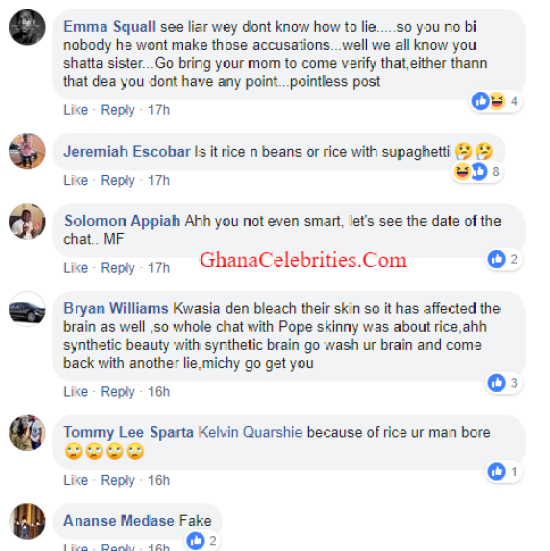 Mag Expose - SCREENSHOTS: 'Shameless Ashawo, Keep Quiet Because You Don't Know How to Lie' — Facebook Users Tear Shatta Wale's 'Sister-Girlfriend', Magdalene Love Apart