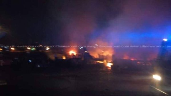 57244788 439747946567786 7560677178803748864 n - VIDEO+PICTURES: Ghana Fire Service Battles A Huge Fire Outbreak At The Kumasi Central Market As Predicted By Eagle Prophet — Watch
