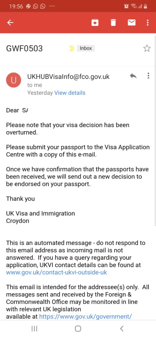PHOTO 2019 04 03 20 57 29 1 - A Happy Ending: The Over Turning of the Visa Refusal of the West African Manager of A Multinational Company Based in Ghana By UK VISAS