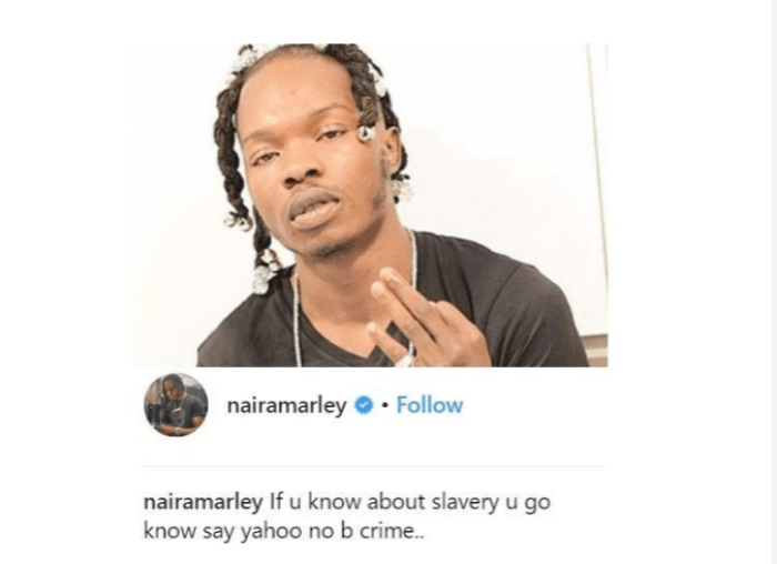 Screenshot 2019 04 22 at 09.12.11 - If You Know About Slavery You Will Know 'Yahoo Yahoo' Is No Crime- Nigerian Rapper