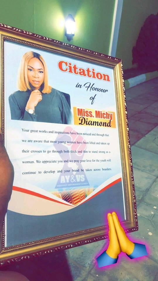 michy 1 - Shatta Michy Honoured for Being an Inspiration to Women Everywhere