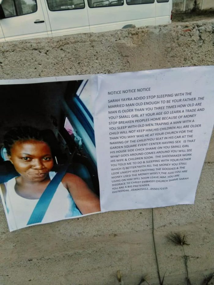 sidechic brouhaha e1556545082555 - Angry Married Woman Pastes Photos Of Her Husband's Side-chick On The Streets Warning Her To Stay Away From Him