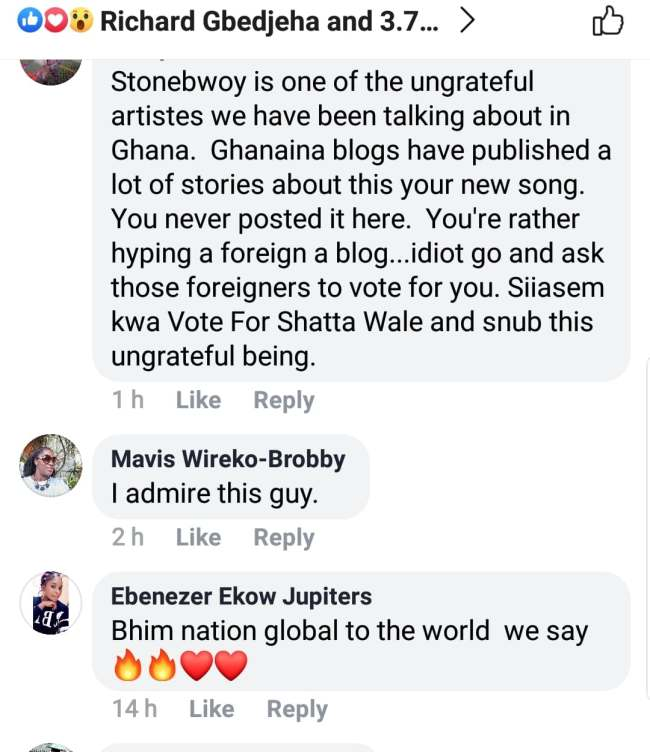unnamed file - SCREENSHOTS: Social Media Users Blast Stonebwoy For Promoting A Foreign Blog — SEE