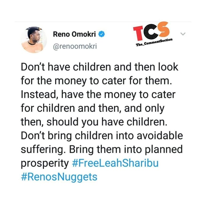 64544996 2075113776125423 1185480440497045504 n - Poor People Shouldn't Give Birth for the Children to Come and Suffer – Reno Omokri's Advice to Couples