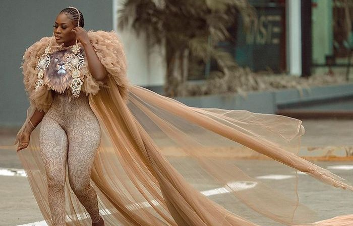 PHOTOS: Extreme Fashion? Nana Akua Addo Storms Instagram With Mosquito Net-like Outfit