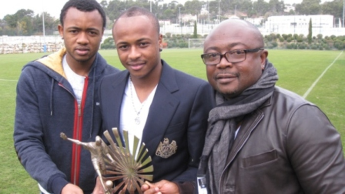 Abedi Pele with his sons Andre and Jordan Ayew 700x - Dede Ayew Celebrates His Dad's Birthday – Flaunts One Of His Expensive Cars As They Chill Together