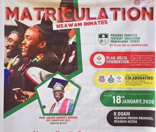 Photos: 59 Nsawam Prisoners Matriculated Into UCC