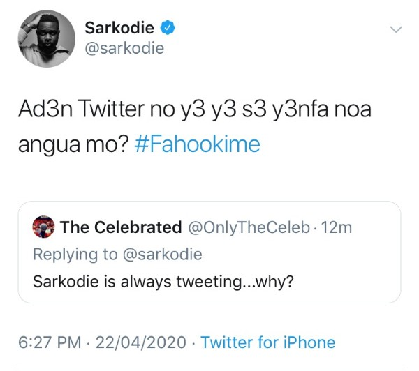 Sarkodie Goes dirty on Shatta wale's fan who called him a foolish man. 3