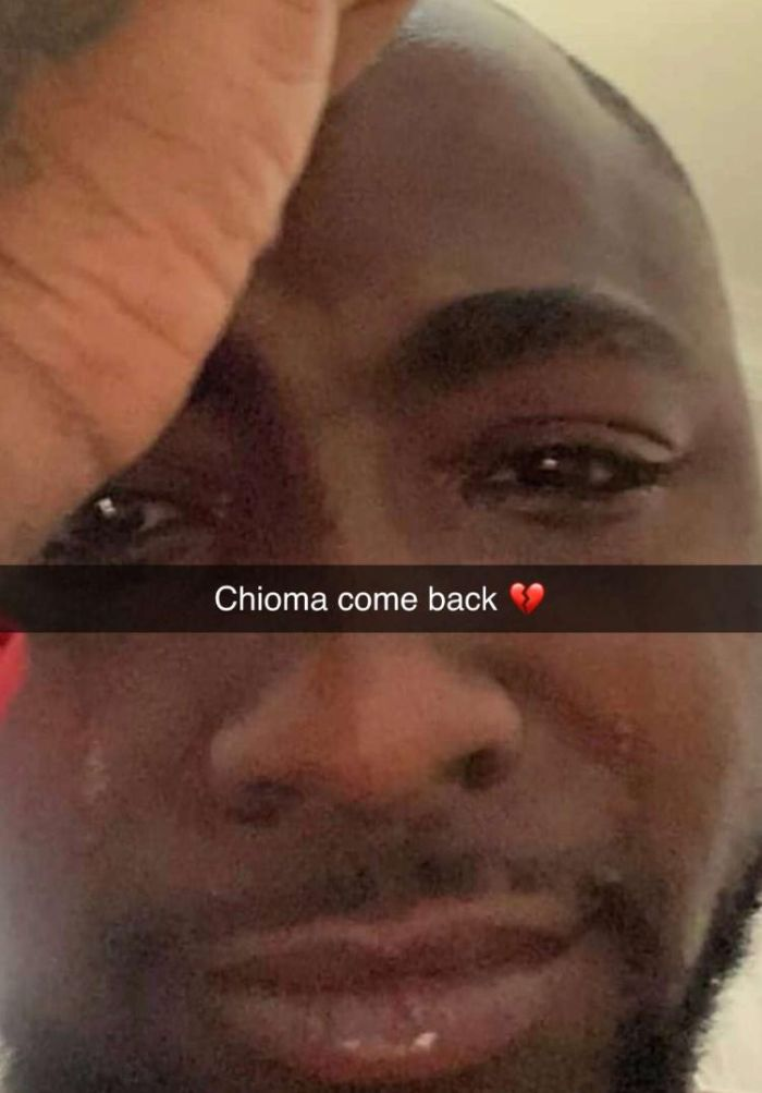 Davido Goes On his Knees to Begs Chioma