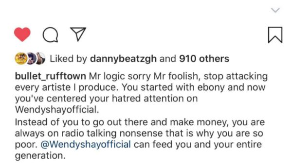 Broke Man – Wendy Shay Can Feed You And Your Entire Generation – Bullet To Mr Logic 1