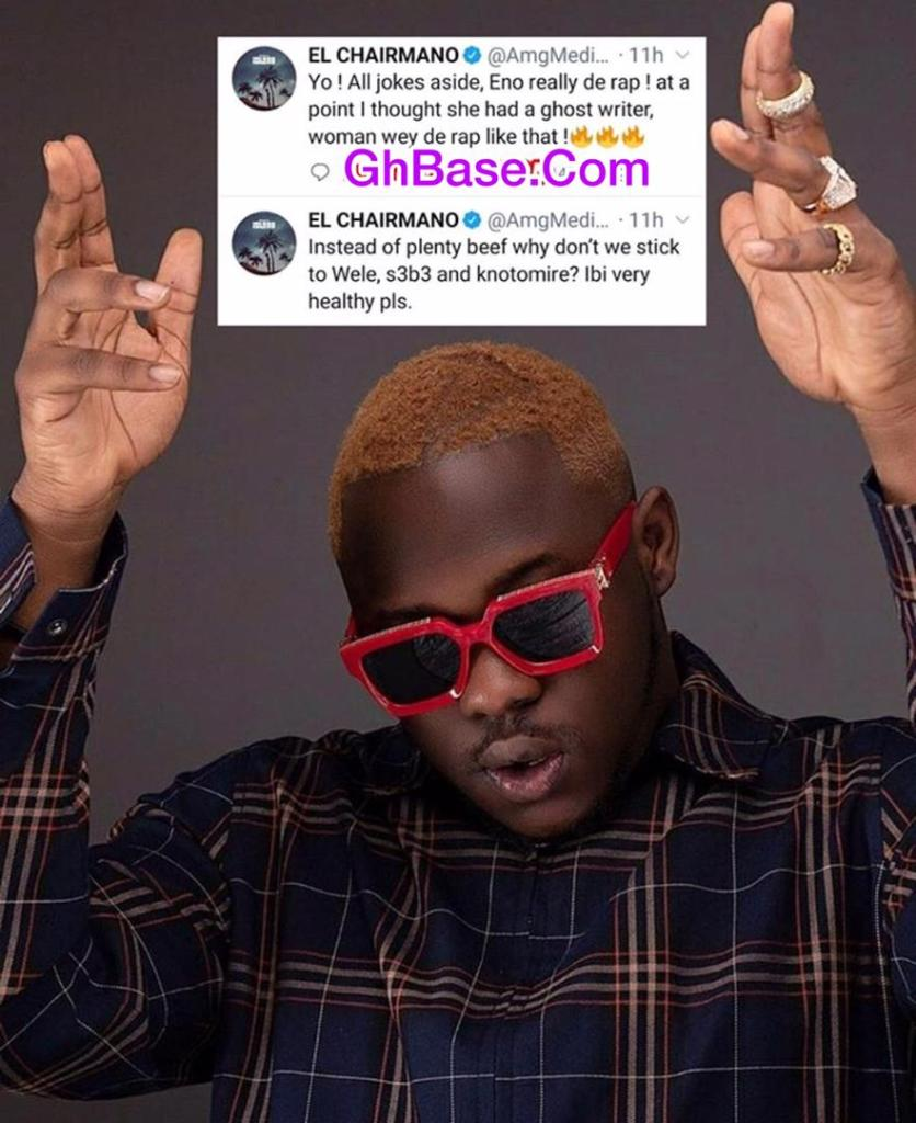 Medikal and eno beef - 'Fearo' Medikal Give U-Turn As He Crowns Eno Barony The Best Rapper