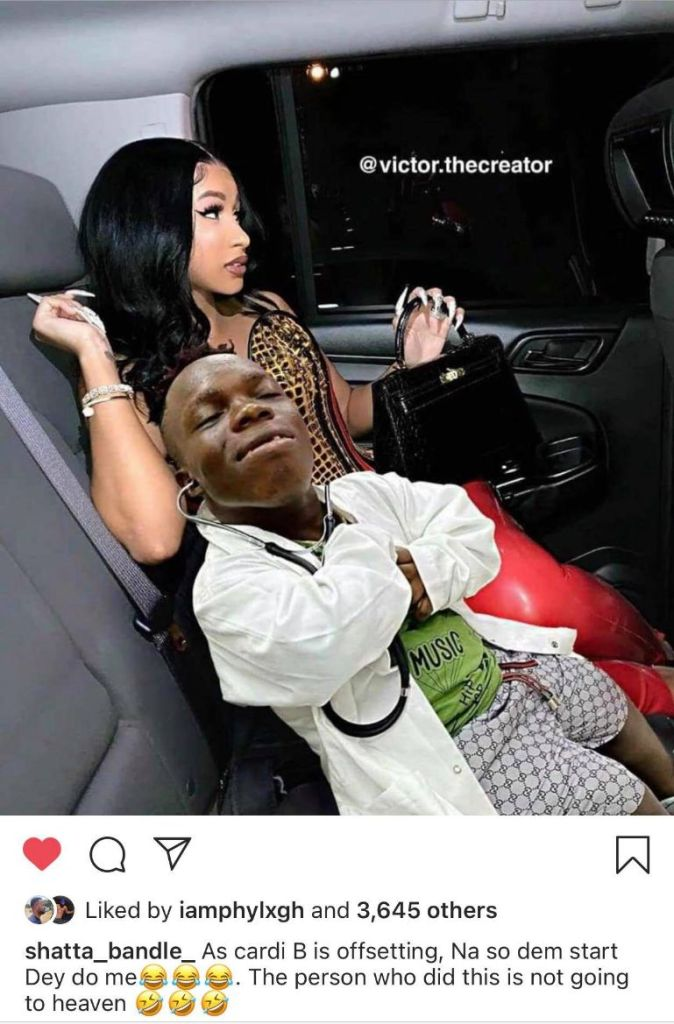 Shatta Bundle spotted chilling with Cardi B after Offset Divorce - Photo
