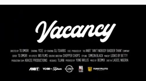 Ycee – Vacancy Lyrics