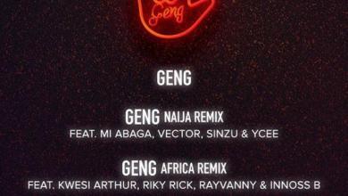 Photo of Mayorkun – Geng (Africa Remix) Ft Kwesi Arthur x Riky Rick x Rayvanny x Innoss'B