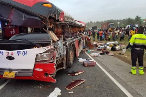 20 lost their lives in a fatal accident on the Accra-Kumasi Highway