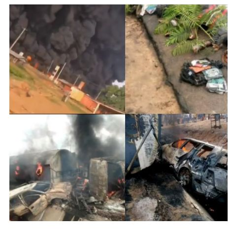 Countless Persons Including Primary School Kids Burnt To Death In A Petrol Tanker Explosion In Kogi (Graphic)