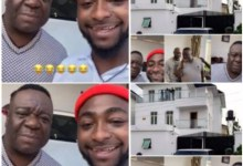 Photo of Funniest Actor Mr Ibu And Davido Hangout At OBO's Luxurious Mansion – Video