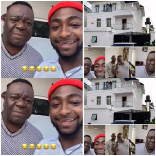 Funniest Actor Mr Ibu And Davido Hangout At OBO's Luxurious Mansion - Video