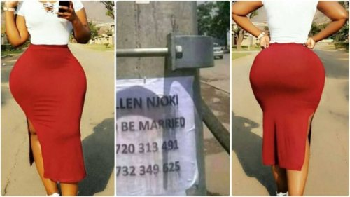 I Need A Man To Marry - Cute Saxy Lady Hangs Posters In The Street To Alert Guys